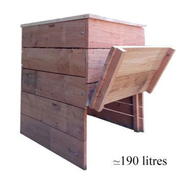 composteur ménager en bois 190 litres