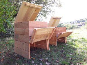 composteur en bois les deux modèles