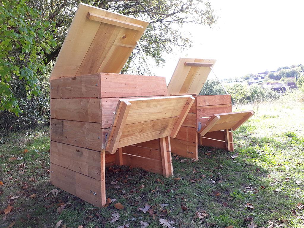 composteur m nager en bois 190 litres de fabrication fran aise. Black Bedroom Furniture Sets. Home Design Ideas