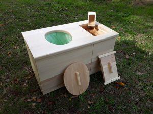toilette sèche d'intérieur