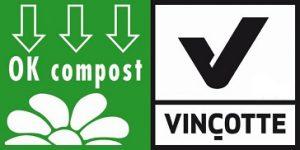 les sacs compostables portent le label OK Compost toilette sèche d'intérieur