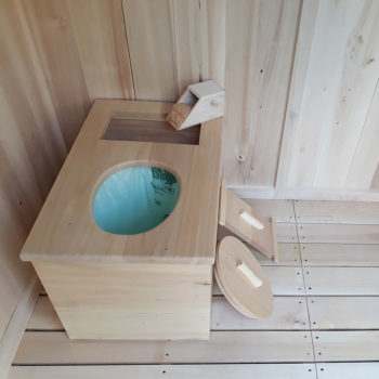 toilettes sèches handicapé en bois