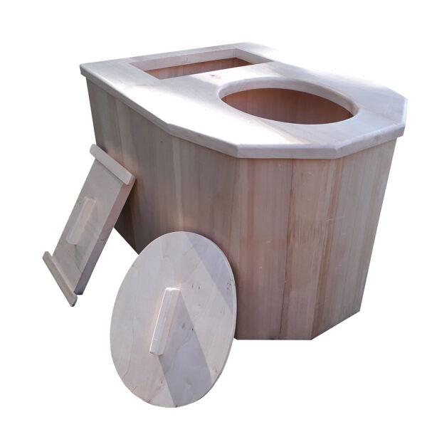 toilette sèche avec les 2 couvercles