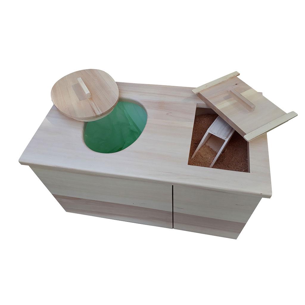 Toilette s che d 39 int rieur compost i cag premier for Toilettes seches interieur