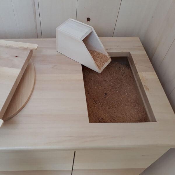toilette sèche à compost d'extérieur écologique