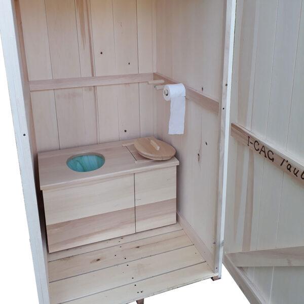 toilette sèche à compost d'extérieur naturelle