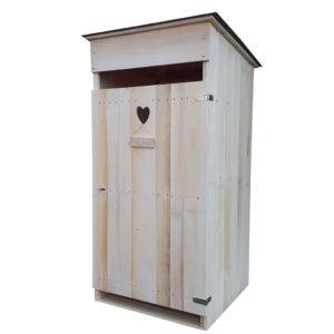 Boutique de vente de toilettes sèches artisanale en bois.
