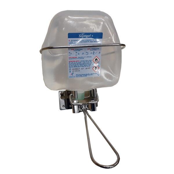 distributeur de gel hydro alcoolique toilette sèche