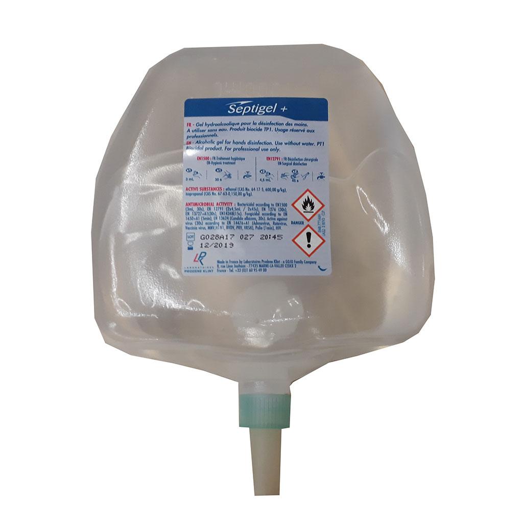 poche de gel hydro alcoolique toilette sèche