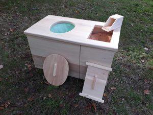 meuble toilette sèche d'intérieur
