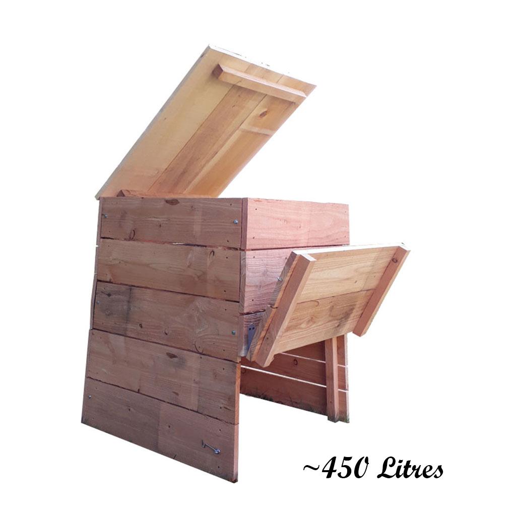 composteur en bois environ 450 litres