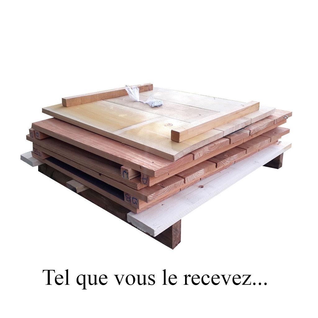 composteur en bois environ 450 litres palettisé