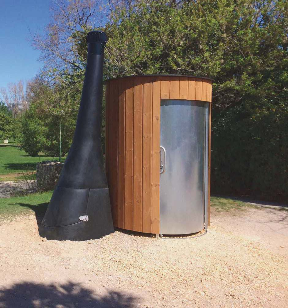 Toilette publique KL2 STD avec cheminée