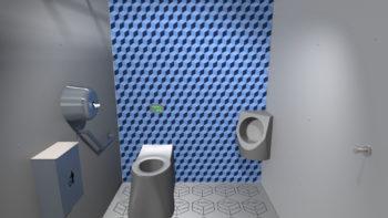Intérieur de la cabine i Cube® décor Cubix