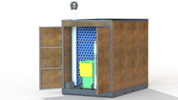 Local technique des WC publics écologiques i Cube®