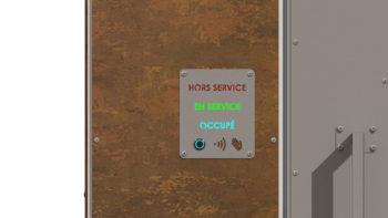 panneau de commande de la porte d'entrée des WC i Cube®