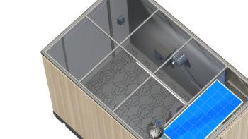 Panneau solaire WC public i Cube®